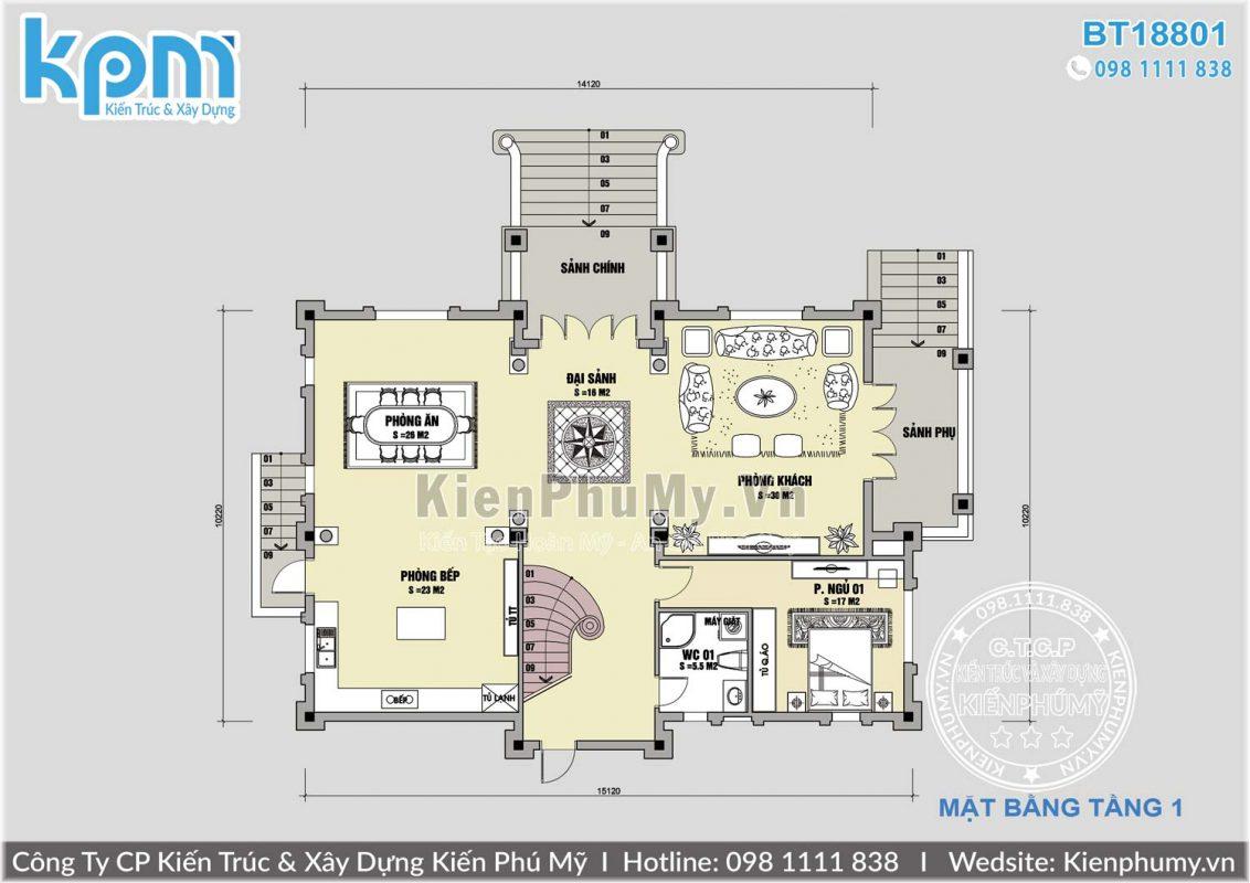 Thiết kế lâu đài pháp 4 tầng 1 tum hoành tráng
