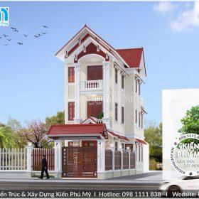 Mẫu nhà lô phố tân cổ điển mái thái 3 tầng