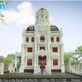 Thiết kế lâu đài pháp 4 tầng 1 tum đẹp tại hà nội