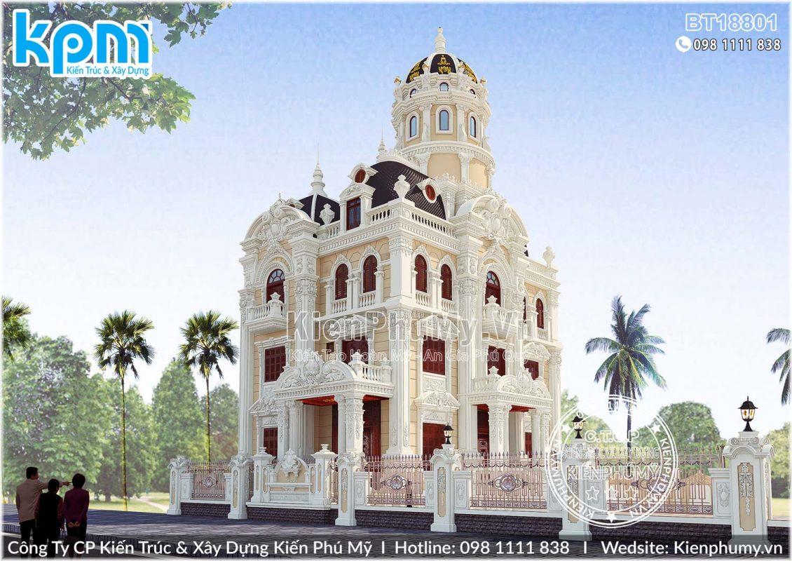 Thiết kế biệt thự lâu đài pháp 3 mặt tiền đẳng cấp tại hà nội