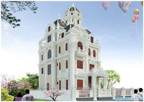 Tổng hợp những mẫu lâu đài pháp 4 tầng đẹp nhất