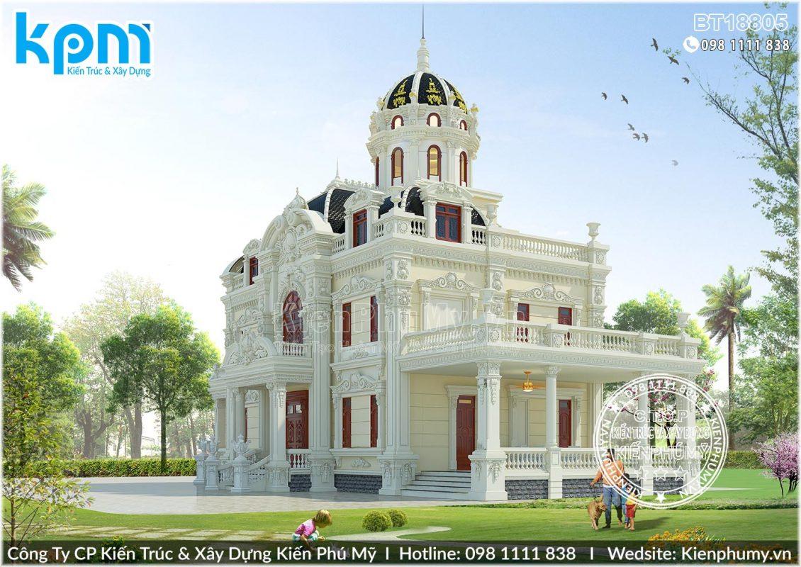 Thiết kế lâu đài pháp 2 tầng tại vĩnh phúc