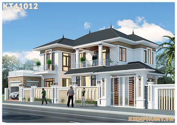 Biệt thự mái thái 2 tầng thiết kế thông thoáng