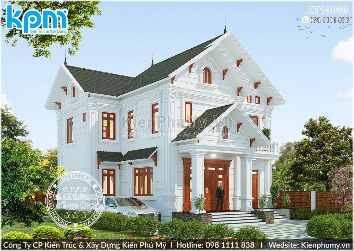 Mẫu nhà biệt thự 2 tầng mái thái đẹp sang trọng