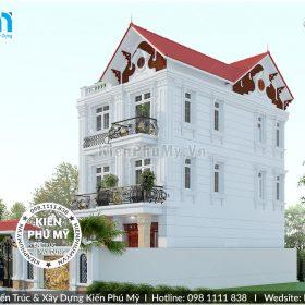 Thiết kế biệt thự 3 tầng mặt tiền 7m kiến trúc Pháp đẳng cấp