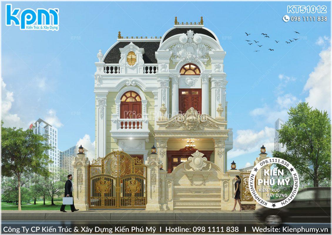 Biệt thự 2 tầng cổ điển sang trọng mặt tiền 8m