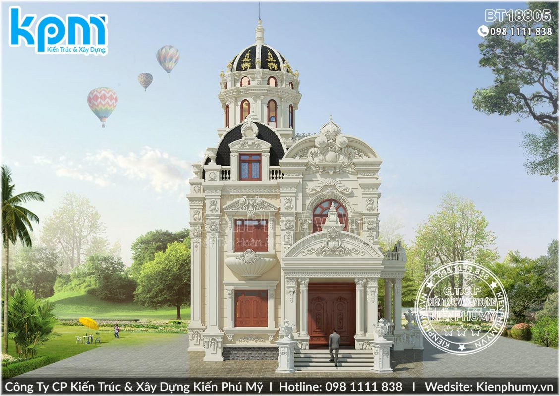 Kiến trúc biệt thự cổ điển pháp hoành tráng