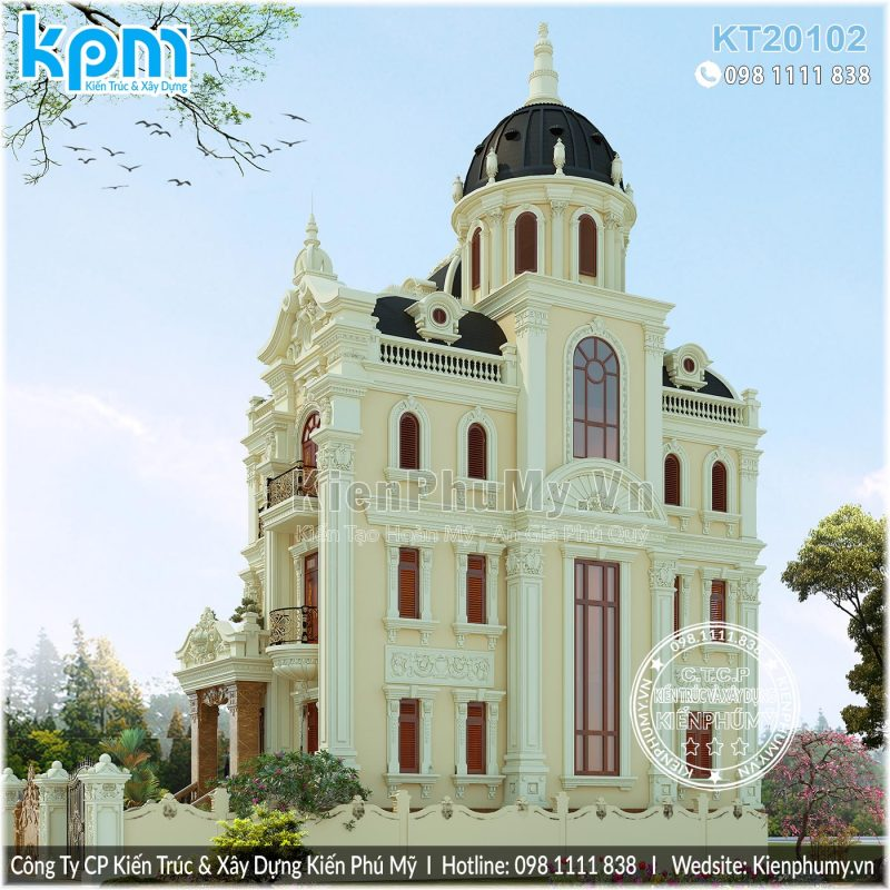 Biệt thự lâu đài 4 tầng 1 tum tạ Hà Nam