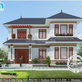 Thiết kế nhà vườn chữ L diện tích 100m2 1 sàn đẹp