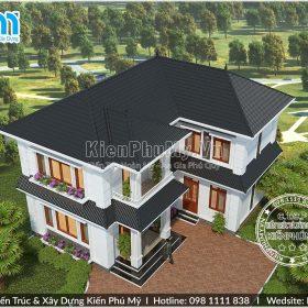 Nhà 2 tầng mái thái thiết kế tại Nam Định