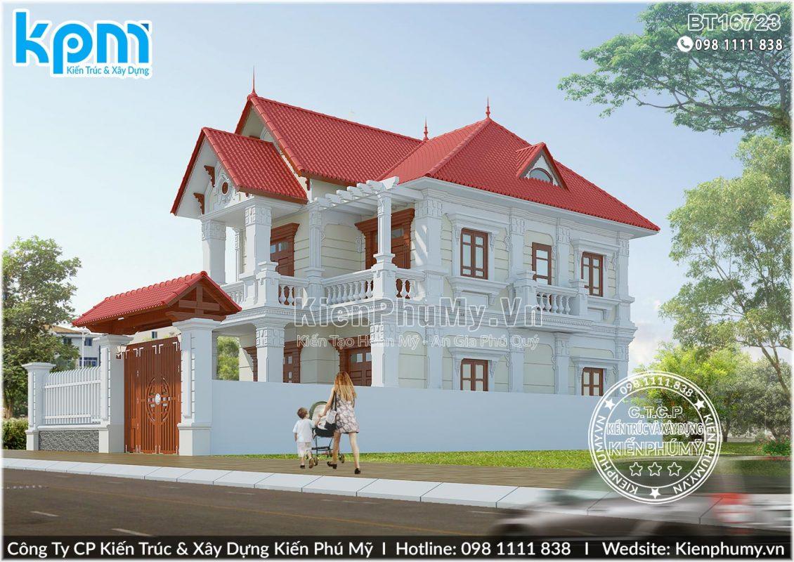 Kiến trúc biệt thự 2 tầng tân cổ điển tại Bắc Ninh