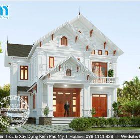 Thiết kế biệt thự 2 tầng mái thái đẹp tại Hà Nội