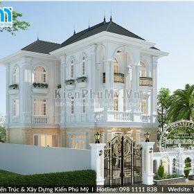 Mẫu nhà 3 tầng mái thái đẹp lung linh, diễm lệ