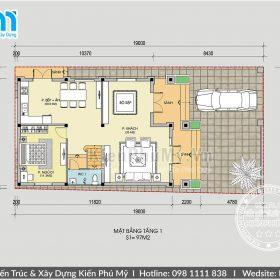 Bản vẽ biệt thự 2 tầng 8x12m đẹp tại Bắc Ninh