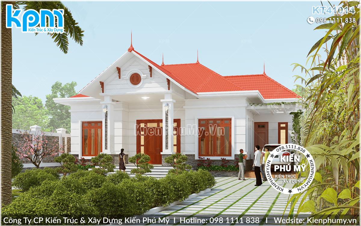 Thiết kế biệt thự nhà vườn 1 tầng mái thái