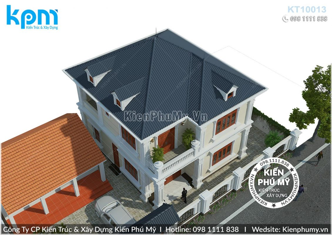 Phối cảnh tổng thể căn biệt thự 2 tầng