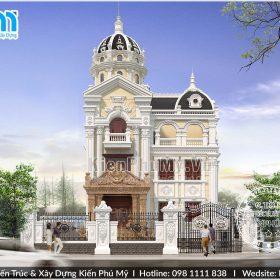 Thiết kế mặt tiền 9m biệt thự cổ điển pháp