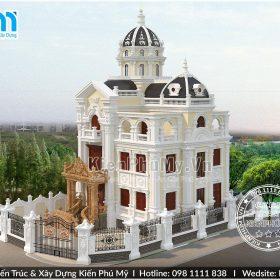 Mẫu thiết kế biệt thự phong cách lâu đài cổ điển hoành tráng