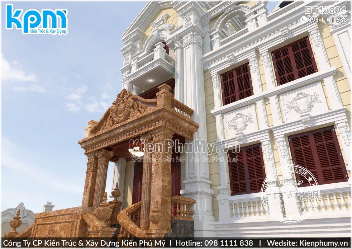 Thiết kế biệt thự cổ điển Châu Âu đẹp