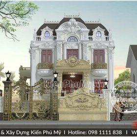 Thiết kế biệt thự pháp 3 tầng kiến trúc cổ điển hoành tráng