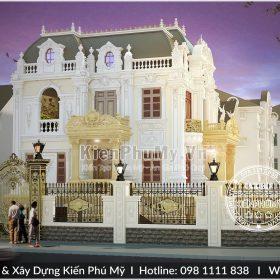 Kiến trúc tráng lệ của mẫu biệt thự pháp 3 tầng cao cấp