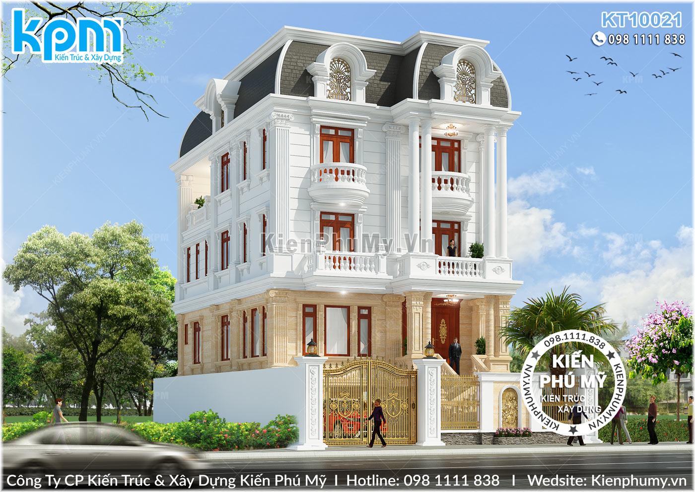 Kiến trúc cổ điển đẹp ấn tượng của căn biệt thự 4 tầng