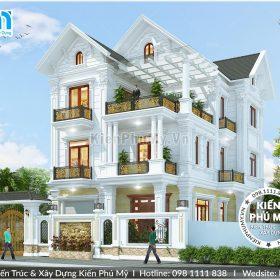 Thiết kế biệt thự kiểu Pháp đẹp tại Ninh Bình