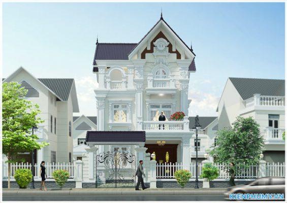 Thiết kế biệt thự tân cổ điển 3 tầng đẹp
