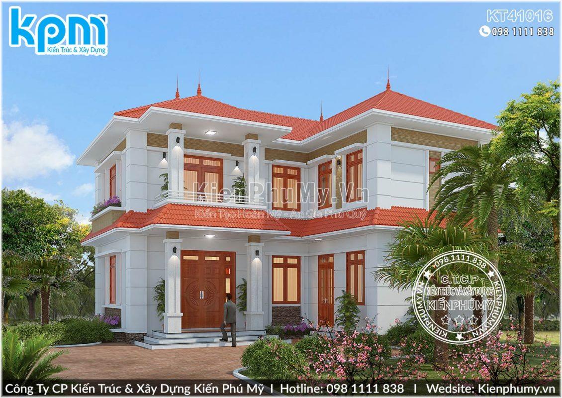 Mẫu nhà vườn mái thái 2 tầng đẹp tại Nam Định