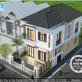 Biệt thự phố 2 tầng 7x12m kiến trúc mái thái hiện đại