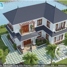 Mẫu thiết kế nhà 2 tầng chữ L đẹp