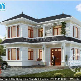 Mẫu nhà vườn mái thái 2 tầng đẹp tại Bắc Ninh