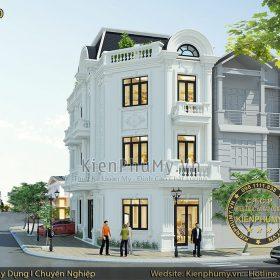 Mẫu nhà lô phố cổ điển 3 tầng 2 mặt tiền đẹp