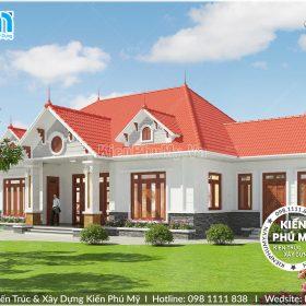 Thiết kế biệt thự vườn 1 tầng mái thái tại Hưng Yên