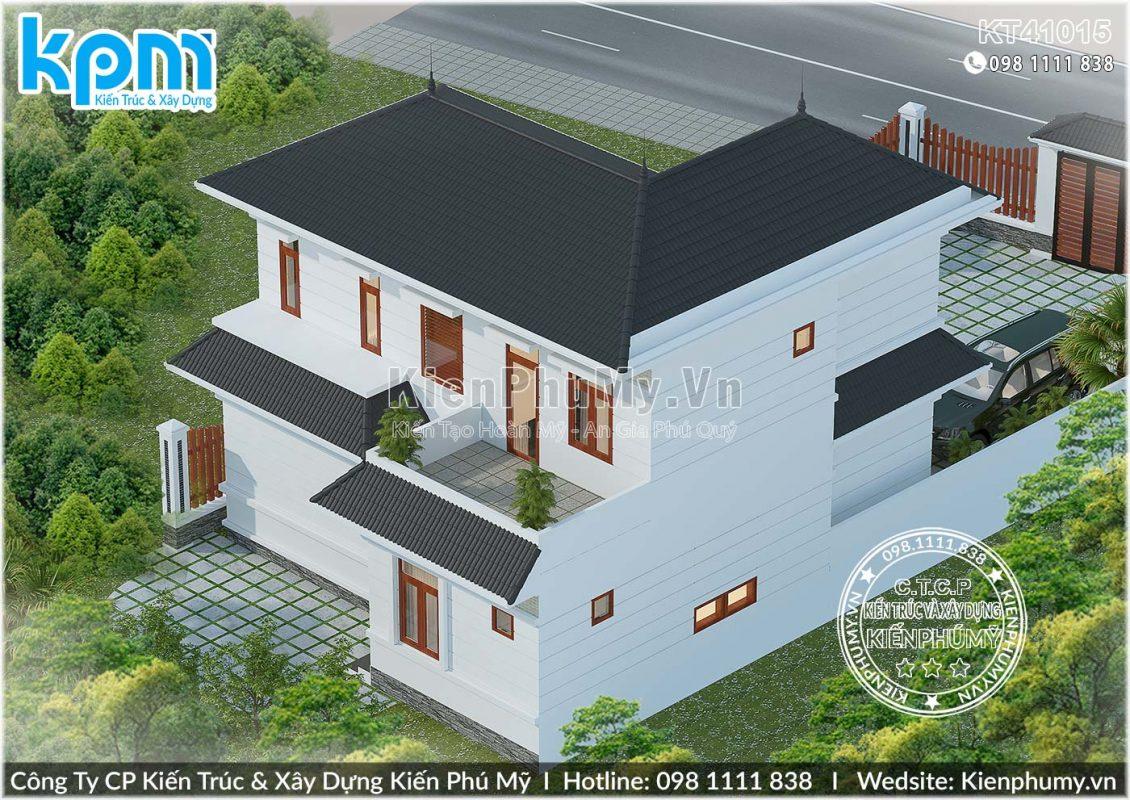 Thiết kế nhà vườn mái thái 100m2 đẹp tiện nghi
