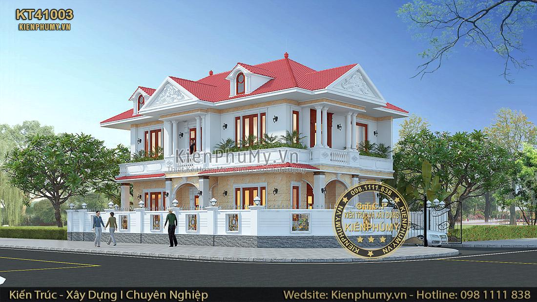 Thiết kế biệt thự mái thái 2 tầng sang trọng tại Lạng Sơn