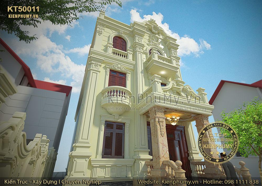 Kiến trúc biệt thự phố mặt tiền 7m