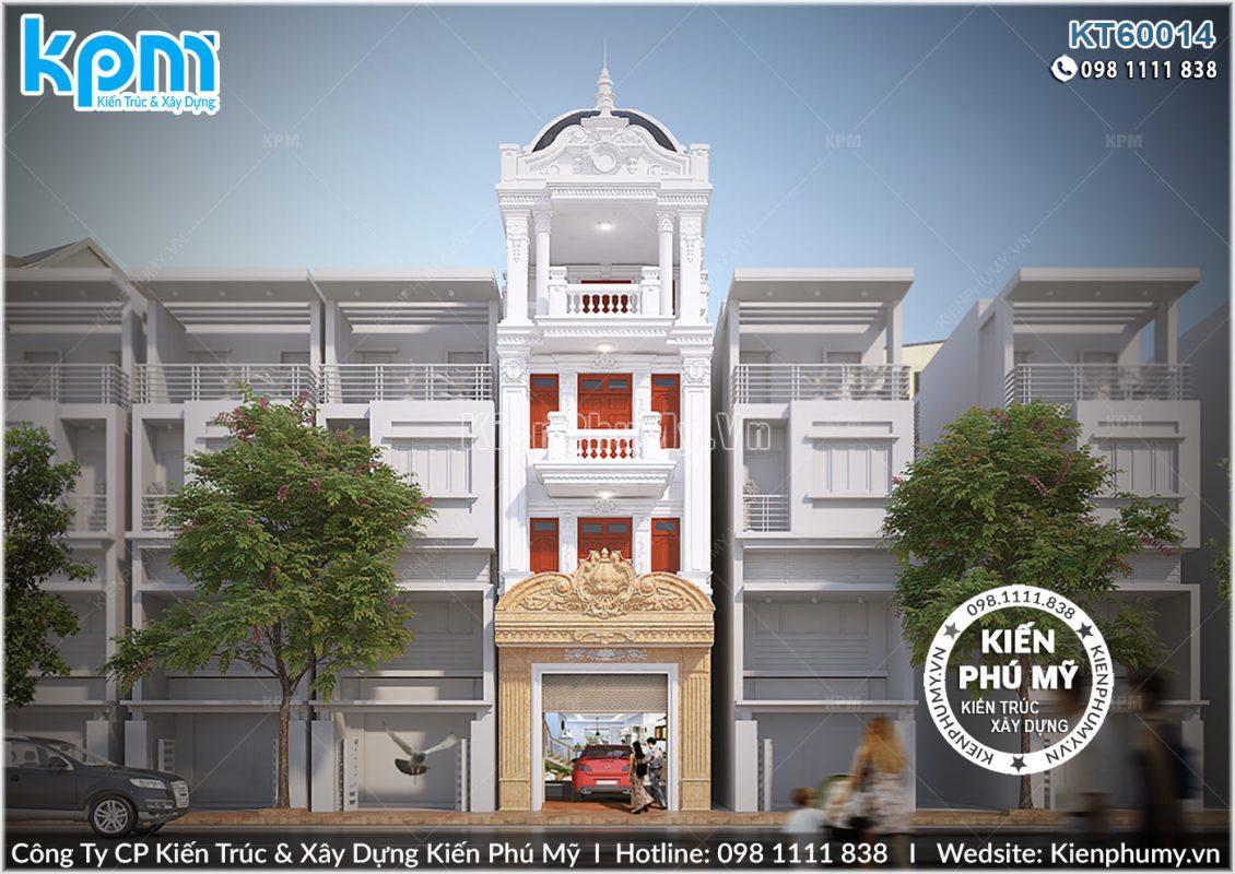 Thiết kế kiến trúc nhà phố pháp 4 tầng tại Hải Dương
