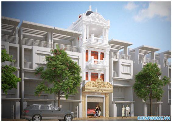 Thiết kế nhà lô phố 5x16m kiến trúc cổ điển