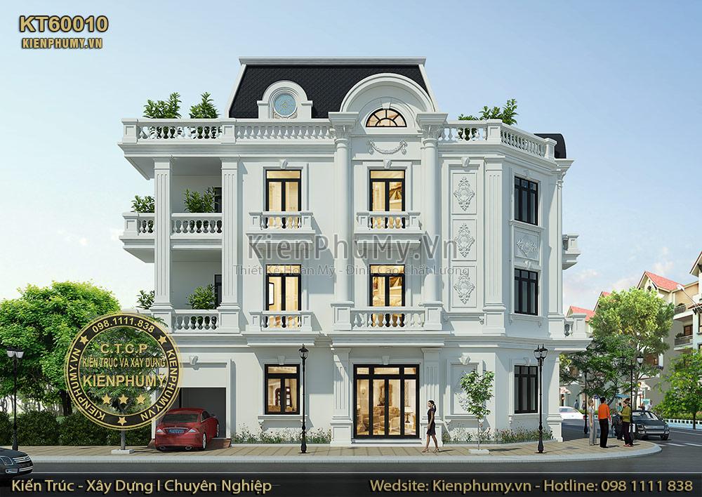 Kiến trúc mặt tiền nhà lô phố 3 tầng cổ điển tại Hải Dương