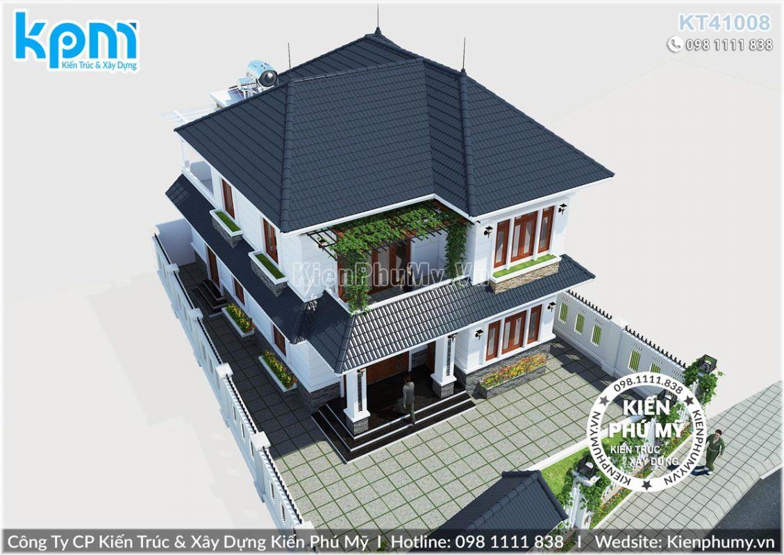 thiết kế nhà 2 tầng mái thái đẹp tại bắc giang