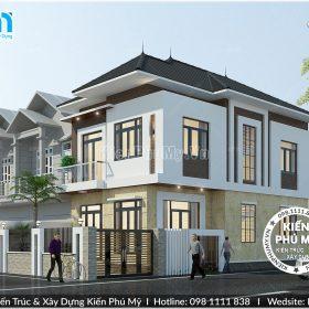 Thiết kế biệt thự phố 2 tầng mái thái mặt tiền 7m