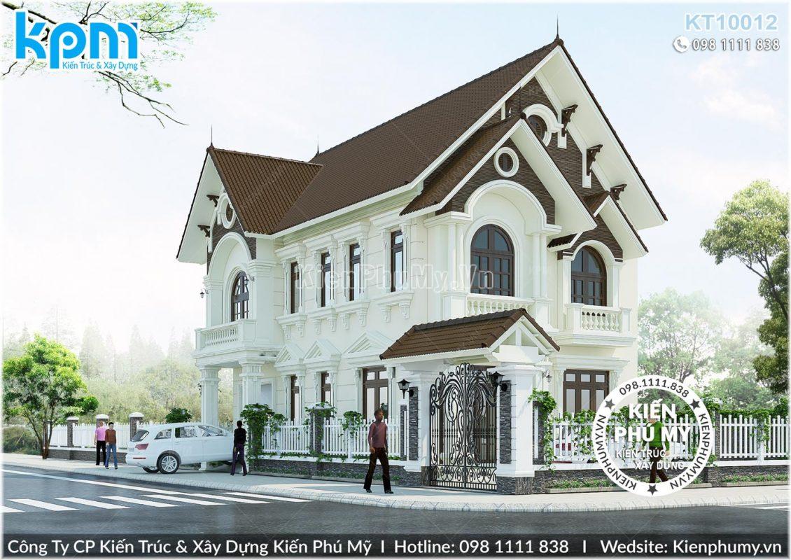 Kiến trúc tân cổ điển sang trọng của mẫu nhà 2 tầng mái thái 8x12m