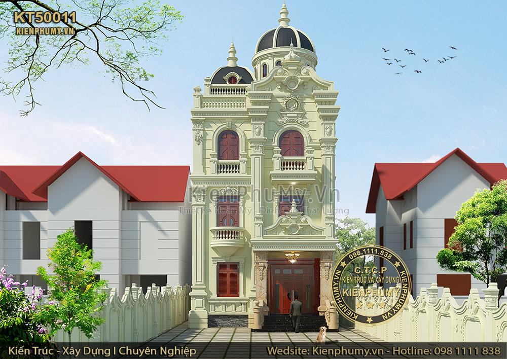 Thiết kế biệt thự cổ điển Pháp 3 tầng đẹp