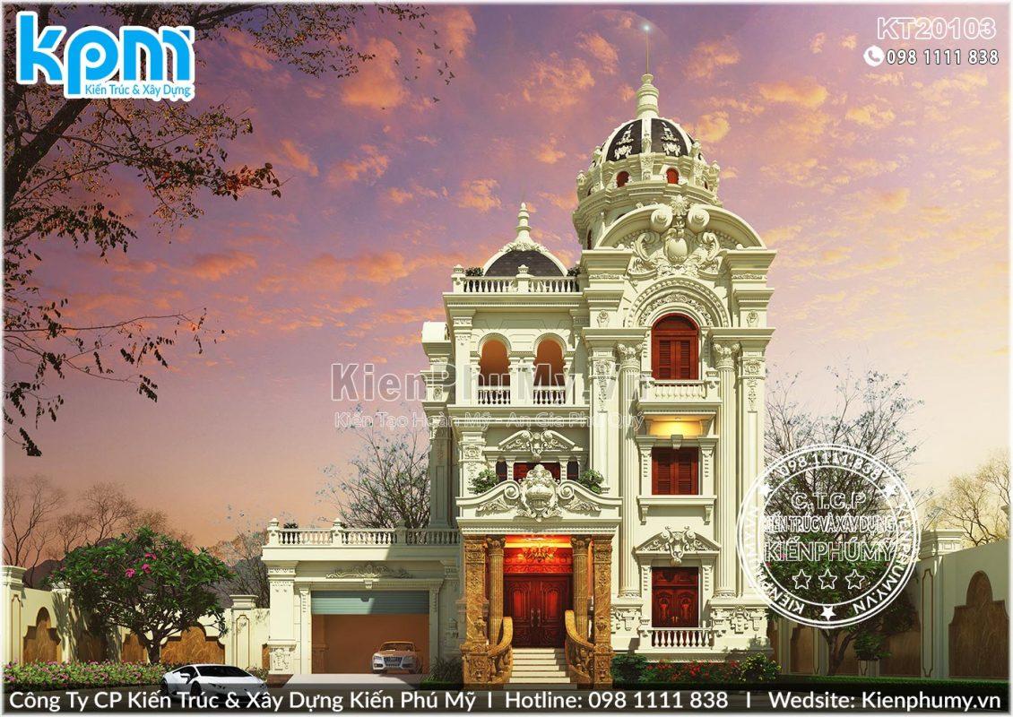Biệt Thự Lâu Đài 3 Tầng 1 Tum Đẳng Cấp Tại Nam Định