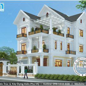 Thiết kế biệt thự kiểu Pháp sang trọng tại Ninh Bình