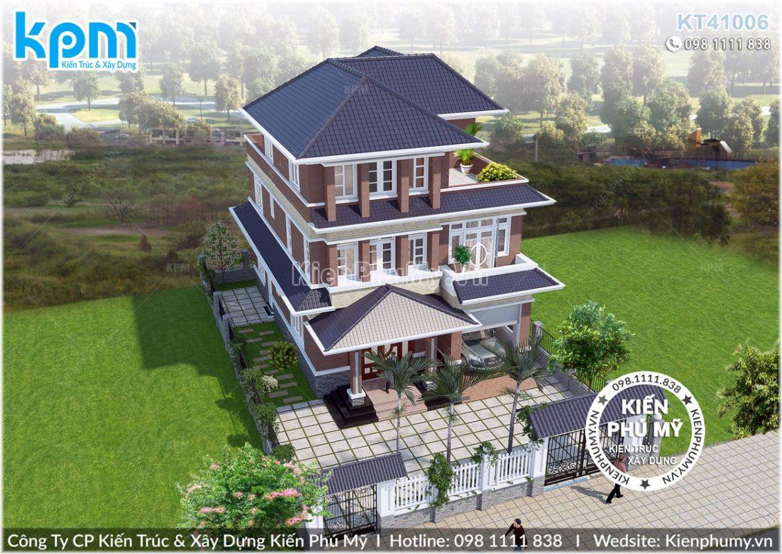 Thiết kế tổng thể 3 tầng đẹp mặt tiền 8,5m