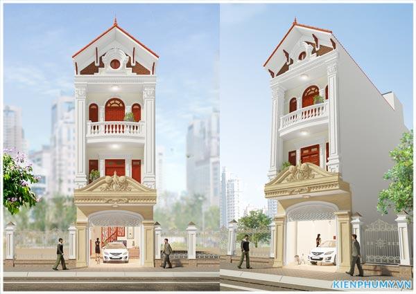 Nhà phố 3 tầng mái thái mặt tiền 5m