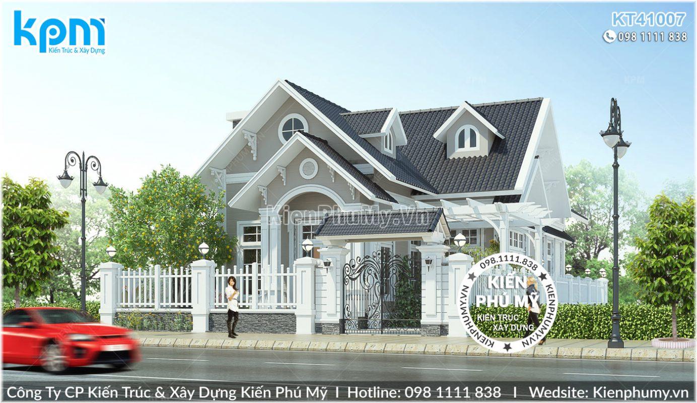 Mẫu nhà vườn 1 tầng 1 gác lửng đẹp tại Lào cai