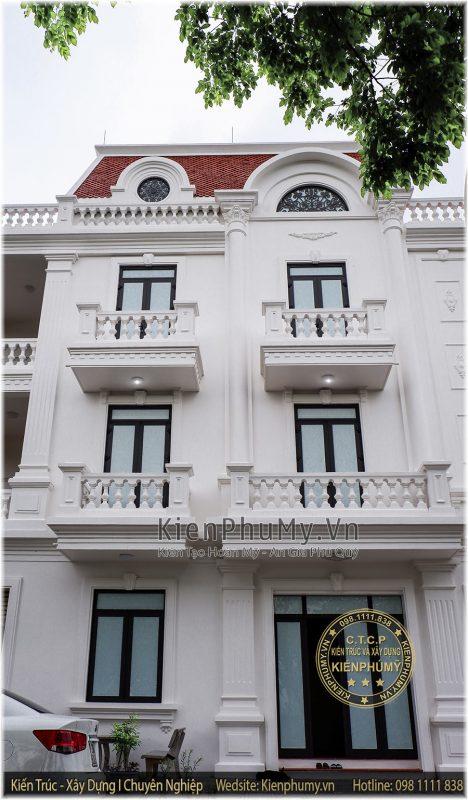 Thiết kế thi công nhà lô phố 3 tầng 1 tum phong cách cổ điển